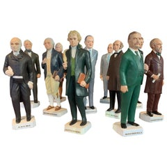 Collection of Twelve United States President Statues