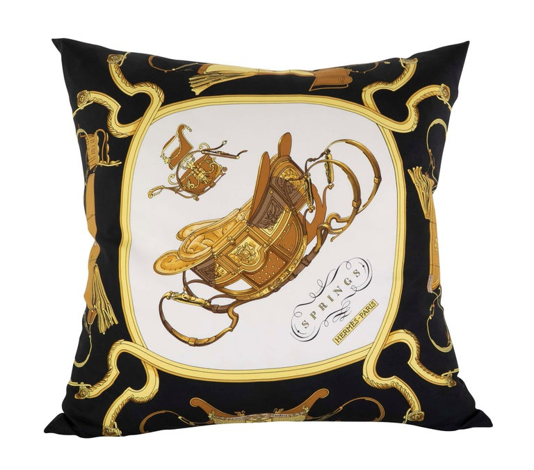 Collection of Vintage Hermes Silk Pillows by Various Designers For Sale 5