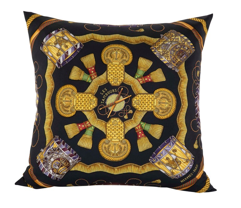 Collection of Vintage Hermes Silk Pillows by Various Designers For Sale 7