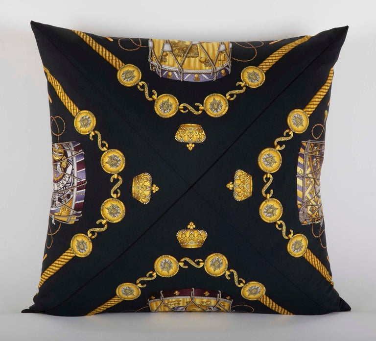 Collection of Vintage Hermes Silk Pillows by Various Designers For Sale 8
