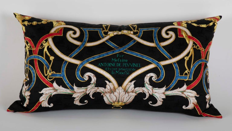 Collection of Vintage Hermes Silk Pillows by Various Designers For Sale 2