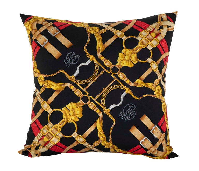 Collection of Vintage Hermes Silk Pillows by Various Designers For Sale 3
