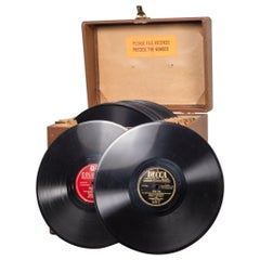 Collection of Vintage Records in Case circa 1940-1950 Price Is Per Case