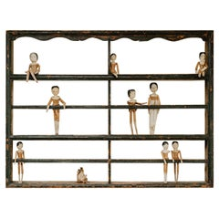 Collection of Wooden Peg Dolls