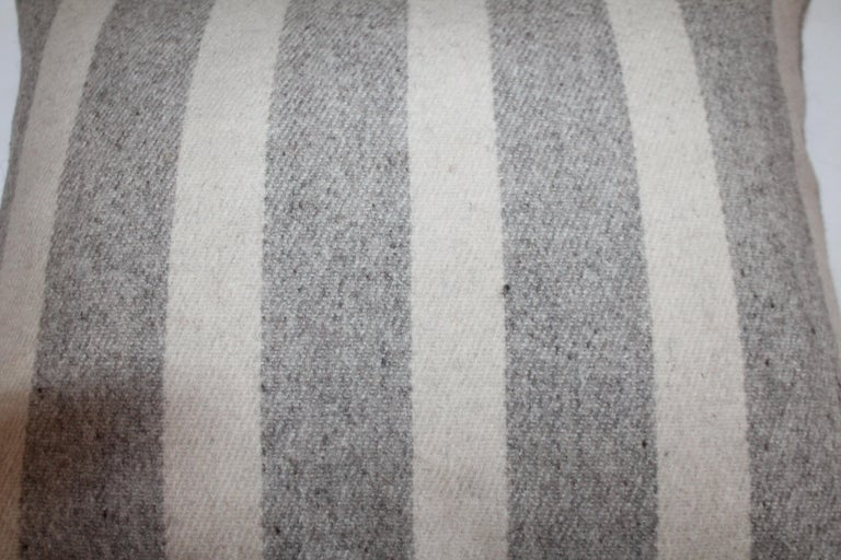 Hand-Crafted Collection of Wool Plaid Pillows, Six Pillows Total For Sale