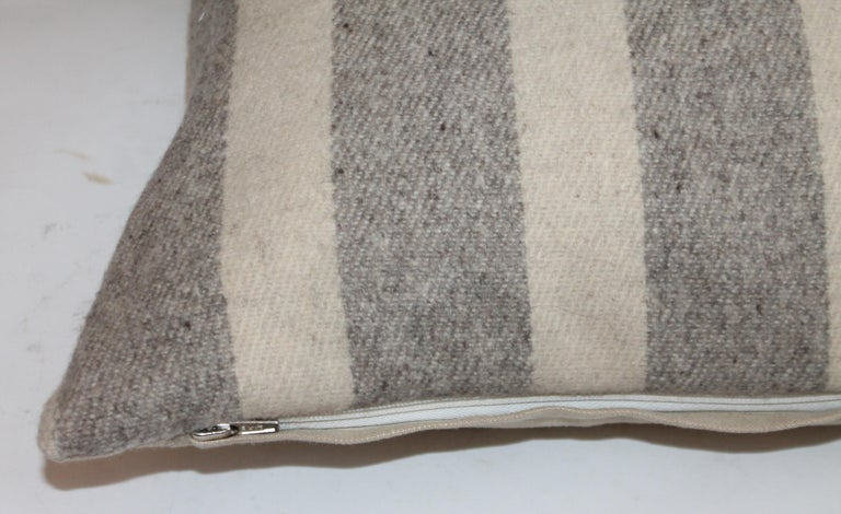 Collection of Wool Plaid Pillows, Six Pillows Total In Good Condition For Sale In Los Angeles, CA