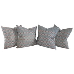 Collection of Woven Coverlet Pillows