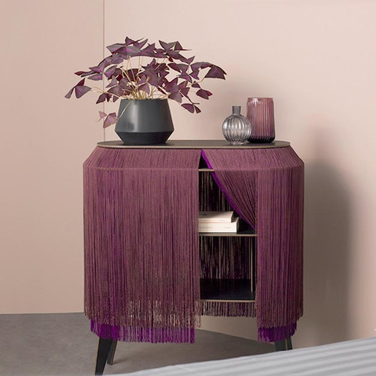 Bordeaux Large fringe cabinet, made in France In New Condition For Sale In Beverly Hills, CA