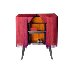 Large Red fringe bar, made in France.