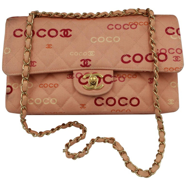 Collector Chanel Timeless bag in Pink Canvas For Sale