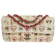 Collector CHANEL Vintage Timeless Coco Flap Bag in Beige Canvas