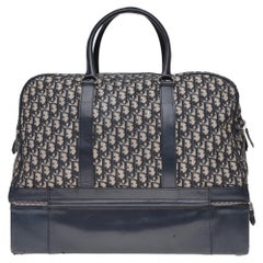 Collector Christian Dior Travel bag in navy blue canvas and leather