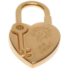"""Collector Hermès Golden Padlock """"Heart"""" for the """"Year of Fantasy 2004"""""""