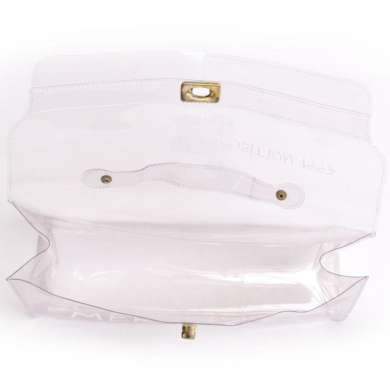 e7f20ff2a56d Women s Collector HERMES Vintage Kelly Bag  Au Pays des Merveilles  in Transparent  Vinyl For