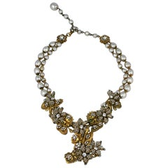 Collector Quality Micro Pearl Miriam Haskell Necklace