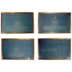 Historic Set Blueprints of San Francisco City Hall Arthur Brown Jr Prints Art