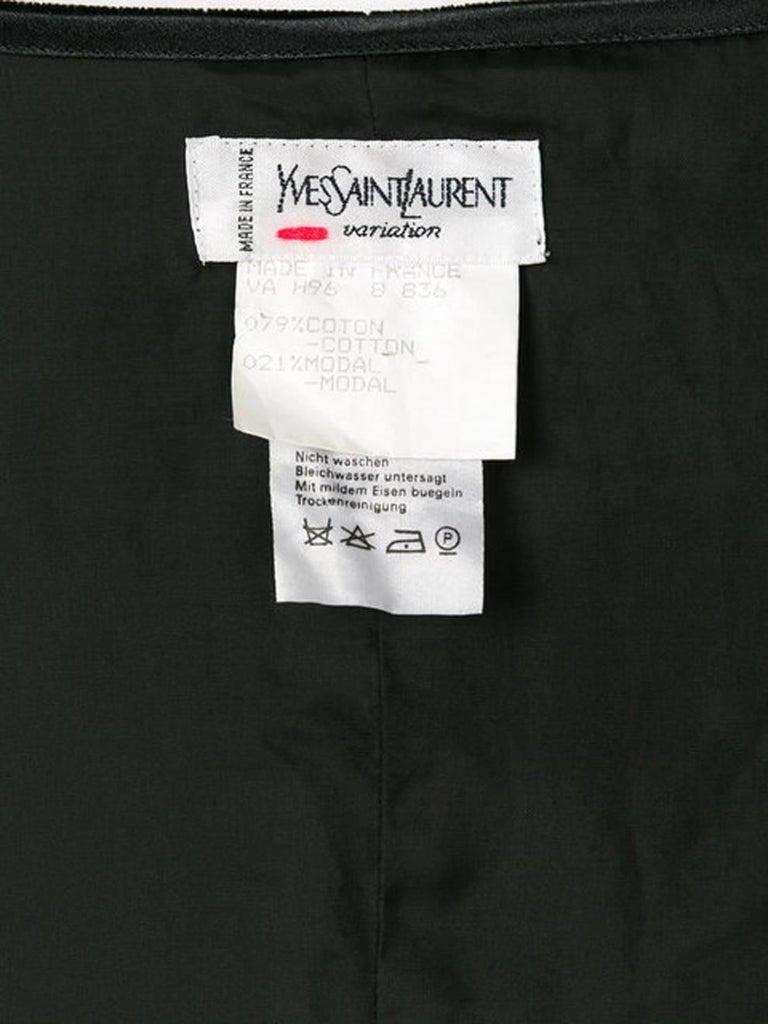 Women's Yves Saint Laurent Velvet Corset Top  For Sale