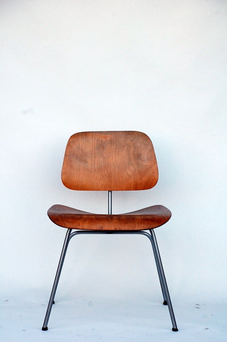 Collector's early Eames DCM chair.