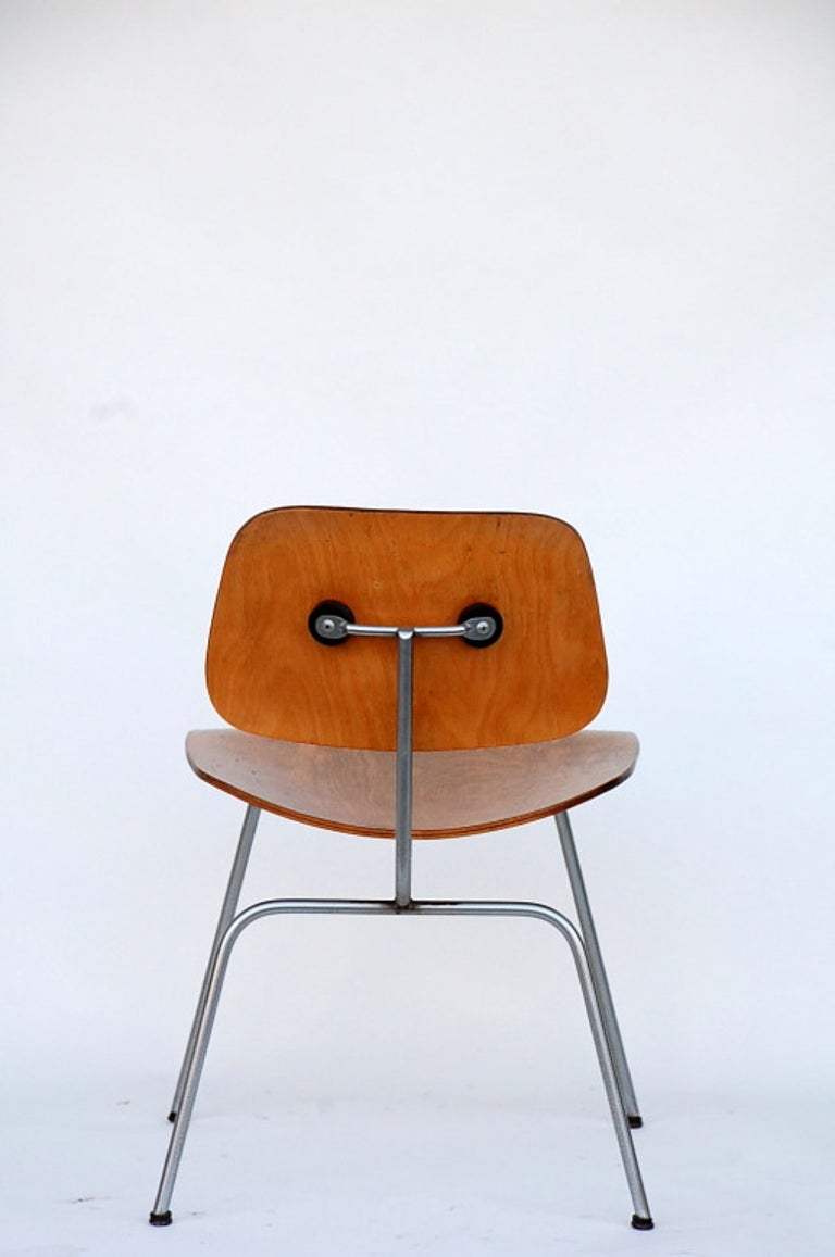 Collector's Early Eames DCM Chair For Sale 1