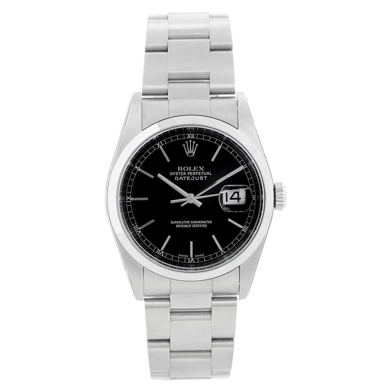 Collectors Edition Rolex Datejust Men's Stainless Steel Watch 16200 For Sale