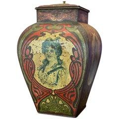 Collector's Item Art Nouveau Lidded Tin, 1920s