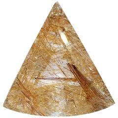 Rutillated Quartz Collectors Piece Triangle Cut 198.2 Carat