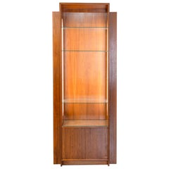 Collector's Skyscraper Design Midcentury Display Cabinet with Side Illumination