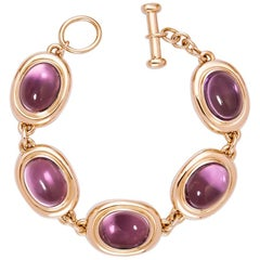 Precious Basics Rose Gold Bracelet with Amethysts of 43.13 ct