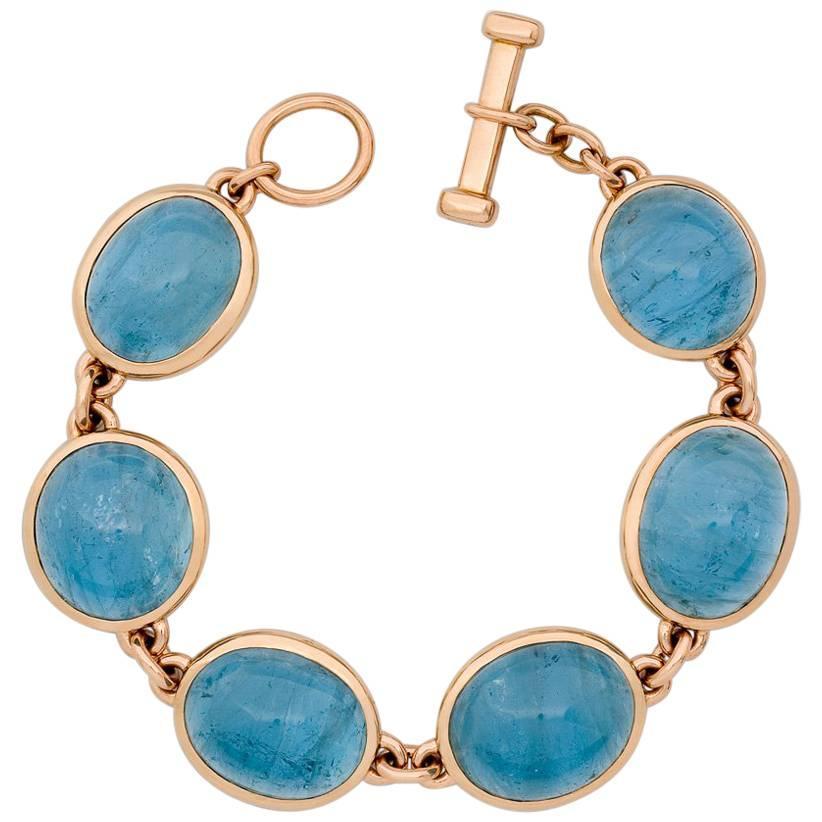 Colleen B. Rosenblat Masterpieces Aquamarines Rose Gold Bracelet