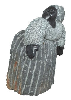 'Grandmother' original Shona stone sculpture signed by Colleen Madamombe