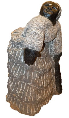 'Grandmother' original signed Shona stone sculpture by Colleen Madamombe