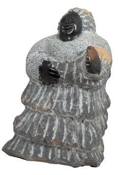'Greetings' original Shona stone sculpture signed by Colleen Madamombe