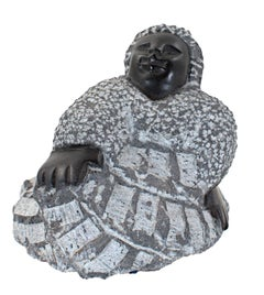 """Mother-In-Law (C-47)"" Black Serpentine Stone Sculpture by Colleen Madamombe"