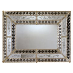 Colleoni Rectangular Murano Glass Mirror
