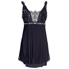 Collette Dinnigan Dress Lace Beading and Stones S New