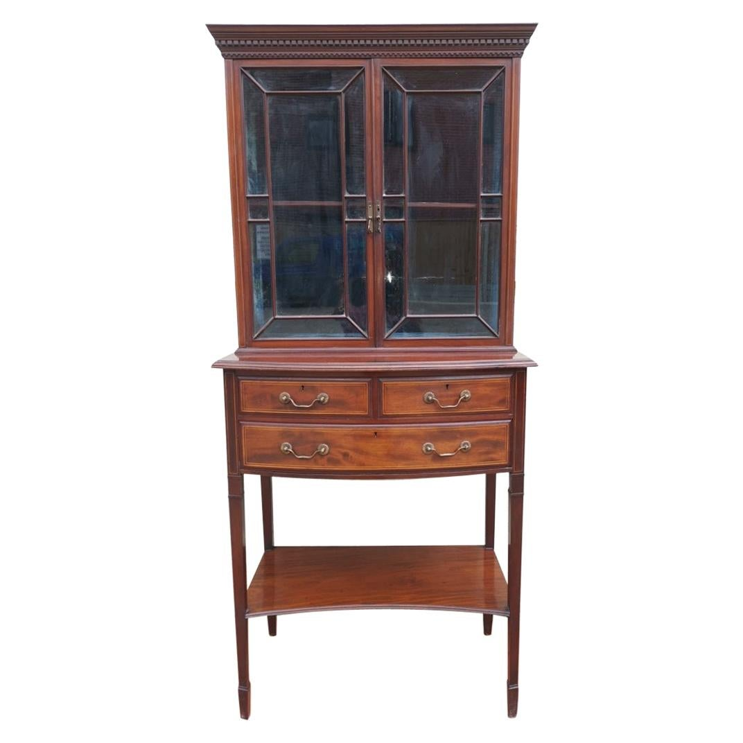 Collinson & Lock. Aesthetic Movement Anglo-Japanese Glazed Walnut Side Cabinet