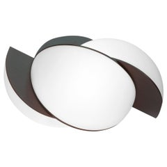 Collision Small Table Light, Bronze Galvanic White Acrylic, In Stock