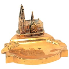 Cologne Cathedral Church Souvenir Building Ashtray Vintage, German, 1960s