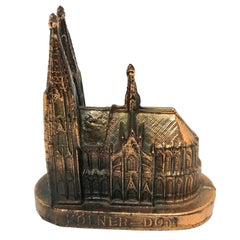 Cologne Cathedral Church Souvenir Building Vintage, German, 1960s