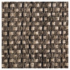 Colombian Crin Rugs, Handwoven Horsehair, Jute and Black Leather, Runner