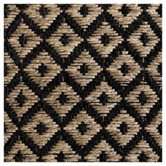 Colombian Crin Rugs, Handwoven Horsehair + Jute Diamonds