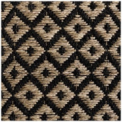 Colombian Crin Rugs, Handwoven Horsehair + Jute Diamonds Runner