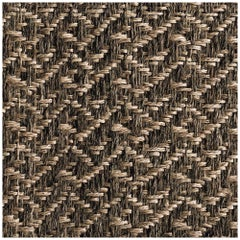 5' x 7' Area Rug, Handwoven Horsehair + Jute, Pre-Columbian, Colombian Crin Rug