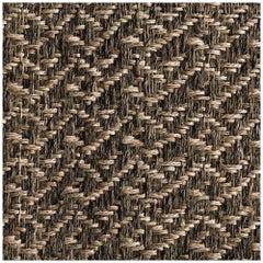 8' x 10' Area Rug, Handwoven Horsehair + Jute, Pre-Columbian, Colombian Crin Rug