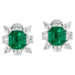 Colombian Emerald and Diamond Earring by Takat