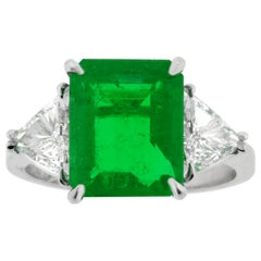 Colombian Emerald and Diamond Ring from Pampillonia Jewelers