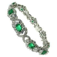 Colombian Emerald Diamond Estate Bracelet