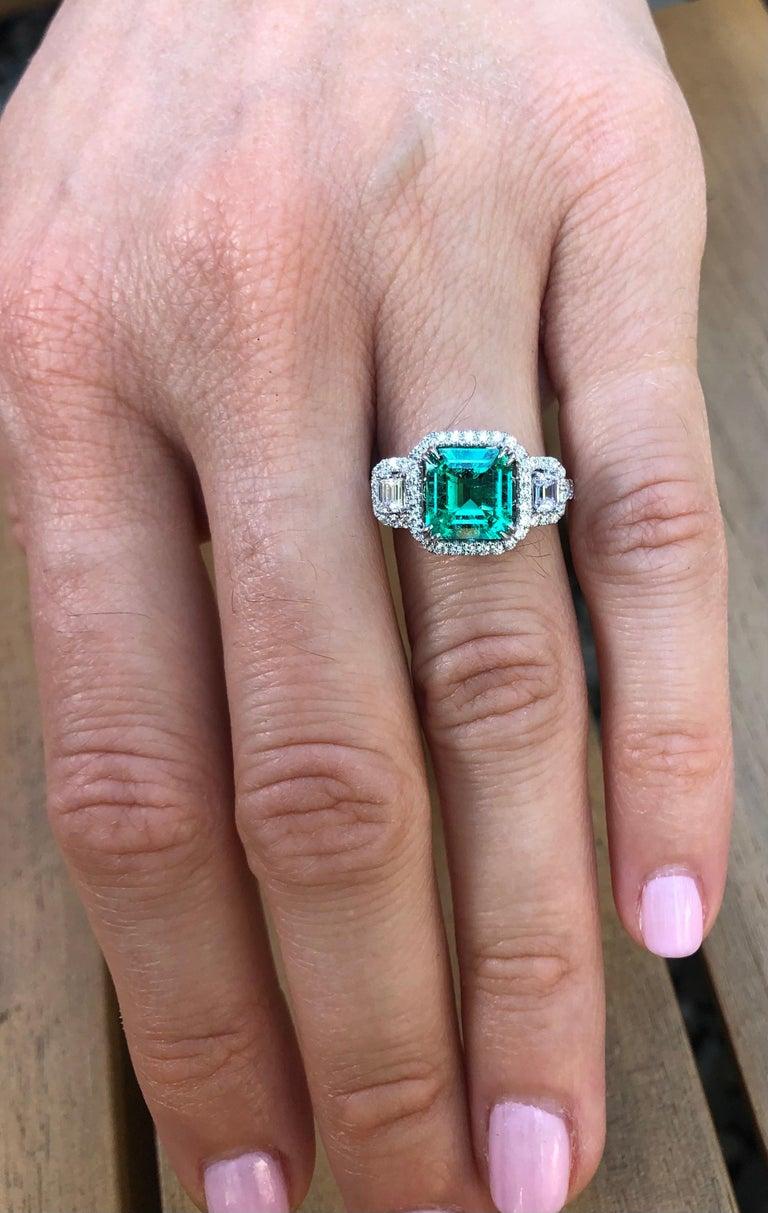 Colombian Emerald Ring 1.75 Carat Emerald Cut 2