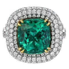 Colombian Emerald Ring 9.07 Carat Gubelin Certified