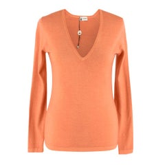 Colombo Peach Cashmere Long sleeve Top - Size US 4